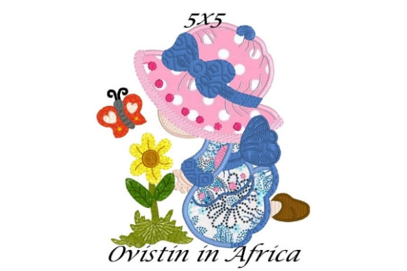 Sun Bonnet Spring Blossom Applique Bouquets & Bunches Embroidery Design By Ovistin in Africa