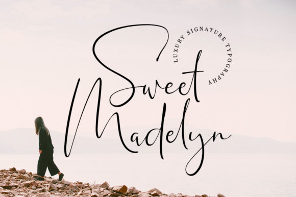 Print on Demand: Sweet Madelyn Manuscrita Fuente Por Typesthetic Studio