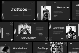 Print on Demand: Tattoo Powerpoint Presentation Graphic Presentation Templates By Giant Design