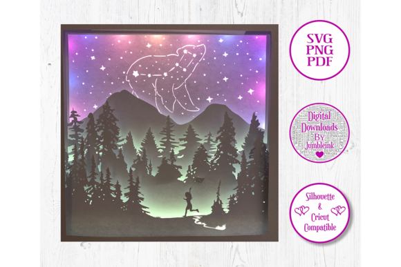 The Little Dipper 3D Paper Cut Template Graphic 3D Shadow Box By Jumbleink Digital Downloads