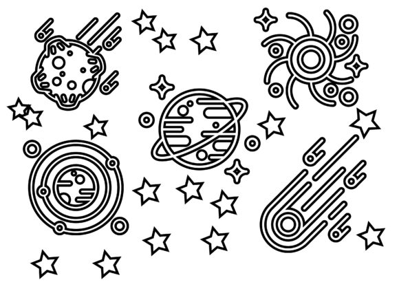 Planet Galaxy Graphic Icons By ssiimpti73