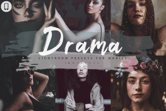 Print on Demand: 14 Drama Mobile Lightroom Presets Graphic Actions & Presets By 3Motional