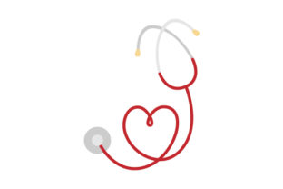 Stethoscope Heart Medical Craft Cut File By Creative Fabrica Crafts