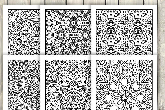 Print on Demand: 30 Abstract Pattern Coloring Pages Graphic Coloring Pages & Books Adults By JM_Graphics - Image 2