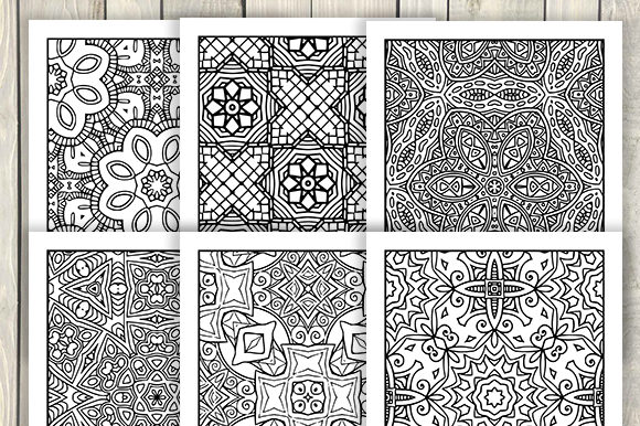 Print on Demand: 30 Abstract Pattern Coloring Pages Graphic Coloring Pages & Books Adults By JM_Graphics - Image 3