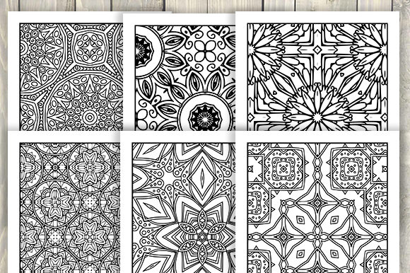 Print on Demand: 30 Abstract Pattern Coloring Pages Graphic Coloring Pages & Books Adults By JM_Graphics - Image 4