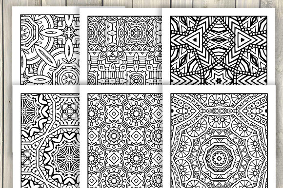 Print on Demand: 30 Abstract Pattern Coloring Pages Graphic Coloring Pages & Books Adults By JM_Graphics - Image 5