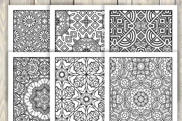 Print on Demand: 30 Abstract Pattern Coloring Pages Graphic Coloring Pages & Books Adults By JM_Graphics - Image 6