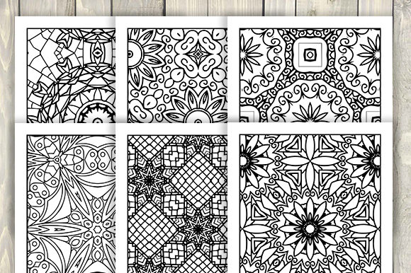 Print on Demand: 30 Cool Abstract Art Coloring Pages Graphic Coloring Pages & Books Adults By JM_Graphics - Image 4