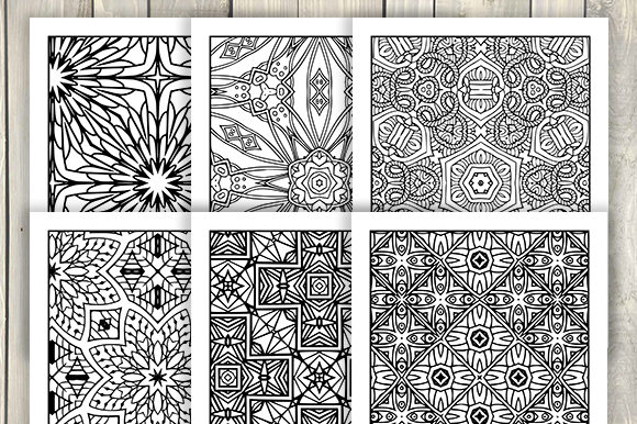 Print on Demand: 30 Cool Abstract Art Coloring Pages Graphic Coloring Pages & Books Adults By JM_Graphics - Image 5