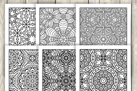 Print on Demand: 30 Cool Abstract Art Coloring Pages Graphic Coloring Pages & Books Adults By JM_Graphics - Image 6