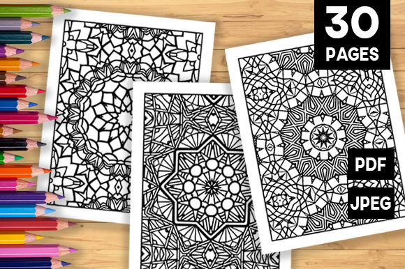 Print on Demand: 30 Fun Adult Pattern Coloring Pages Graphic Coloring Pages & Books Adults By JM_Graphics
