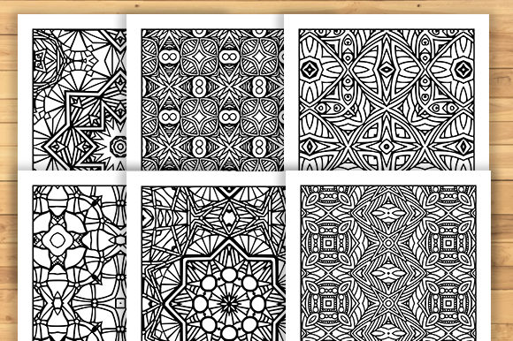 Print on Demand: 30 Fun Adult Pattern Coloring Pages Graphic Coloring Pages & Books Adults By JM_Graphics - Image 5