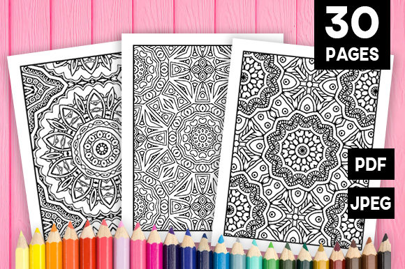 Print on Demand: 30 Fun Geometric Coloring Pages Graphic Coloring Pages & Books Adults By JM_Graphics - Image 1
