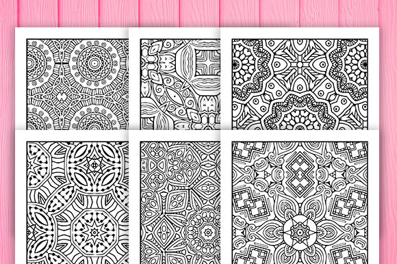 Print on Demand: 30 Fun Geometric Coloring Pages Graphic Coloring Pages & Books Adults By JM_Graphics - Image 2