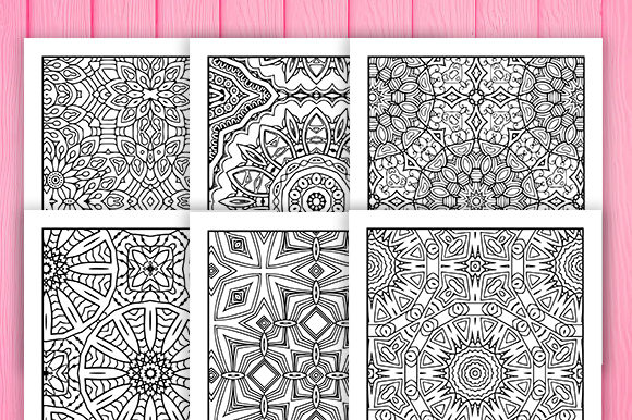 Print on Demand: 30 Fun Geometric Coloring Pages Graphic Coloring Pages & Books Adults By JM_Graphics - Image 3