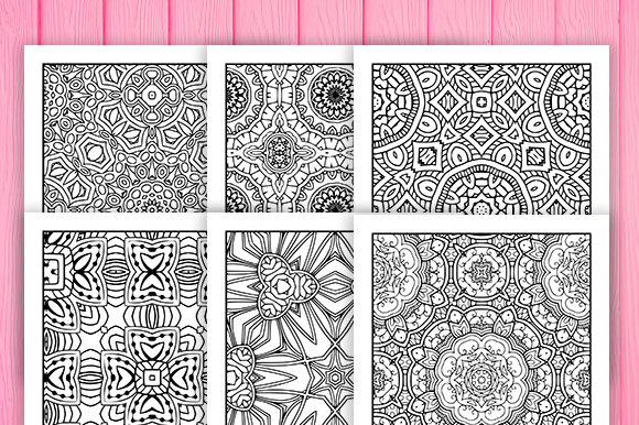 Print on Demand: 30 Fun Geometric Coloring Pages Graphic Coloring Pages & Books Adults By JM_Graphics - Image 4