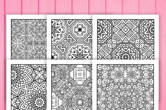 Print on Demand: 30 Fun Geometric Coloring Pages Graphic Coloring Pages & Books Adults By JM_Graphics - Image 5