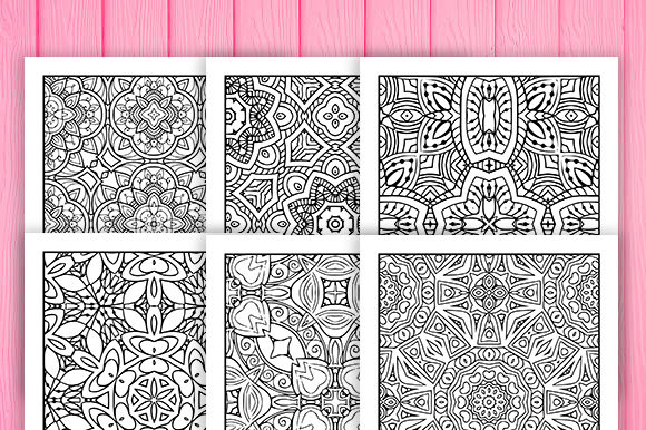 Print on Demand: 30 Fun Geometric Coloring Pages Graphic Coloring Pages & Books Adults By JM_Graphics - Image 6