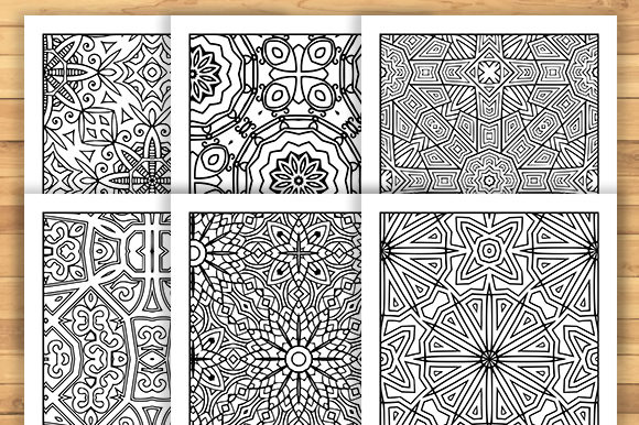 Print on Demand: 30 Geometric Adult Coloring Pages Graphic Coloring Pages & Books Adults By JM_Graphics - Image 2