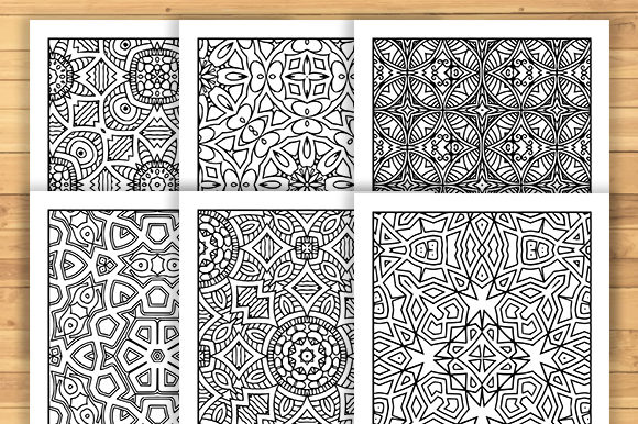 Print on Demand: 30 Geometric Adult Coloring Pages Graphic Coloring Pages & Books Adults By JM_Graphics - Image 3