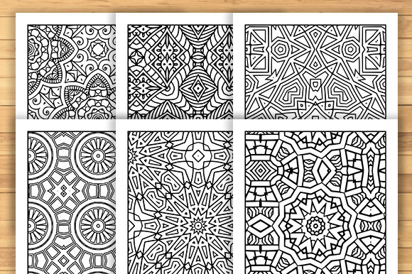 Print on Demand: 30 Geometric Adult Coloring Pages Graphic Coloring Pages & Books Adults By JM_Graphics - Image 4