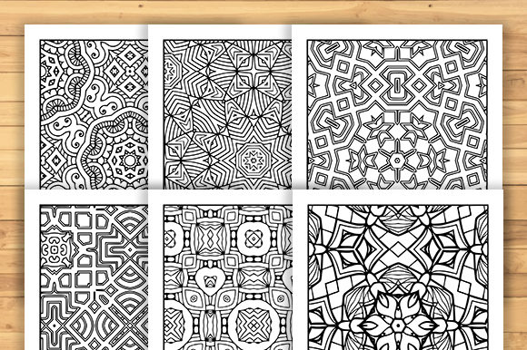 Print on Demand: 30 Geometric Adult Coloring Pages Graphic Coloring Pages & Books Adults By JM_Graphics - Image 5