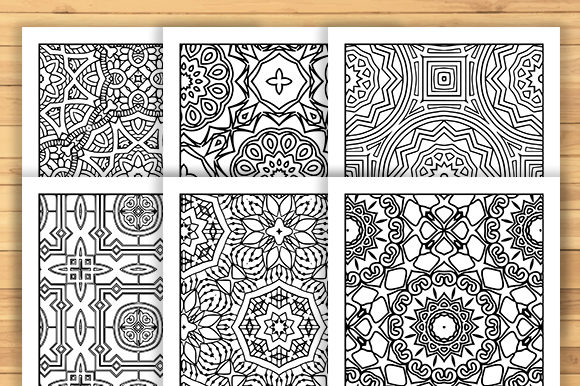 Print on Demand: 30 Geometric Adult Coloring Pages Graphic Coloring Pages & Books Adults By JM_Graphics - Image 6