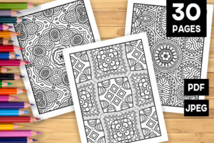 Print on Demand: 30 Lovely Geometric Coloring Pages Graphic Coloring Pages & Books Adults By JM_Graphics 1