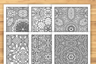 Print on Demand: 30 Lovely Geometric Coloring Pages Graphic Coloring Pages & Books Adults By JM_Graphics 2