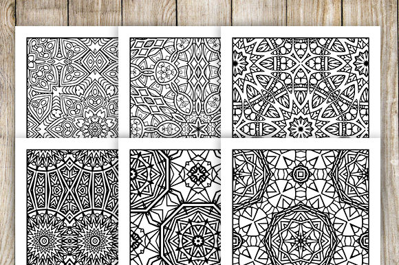 Print on Demand: 30 Relaxing Abstract Coloring Pages Graphic Coloring Pages & Books Adults By JM_Graphics - Image 6