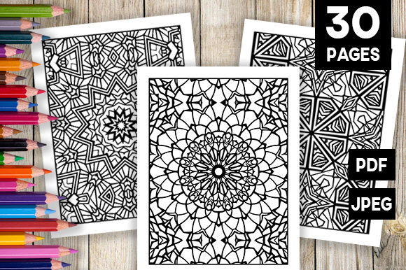 Print on Demand: 30 Unique Adult Coloring Pages Graphic Coloring Pages & Books Adults By JM_Graphics