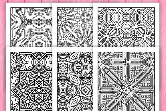 Print on Demand: 30 Wonderful Geometric Coloring Pages Graphic Coloring Pages & Books Adults By JM_Graphics - Image 2