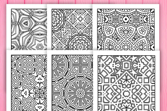 Print on Demand: 30 Wonderful Geometric Coloring Pages Graphic Coloring Pages & Books Adults By JM_Graphics - Image 3