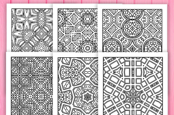 Print on Demand: 30 Wonderful Geometric Coloring Pages Graphic Coloring Pages & Books Adults By JM_Graphics - Image 4