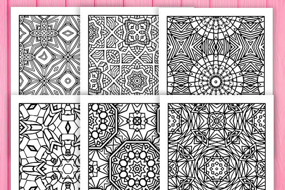 Print on Demand: 30 Wonderful Geometric Coloring Pages Graphic Coloring Pages & Books Adults By JM_Graphics - Image 5