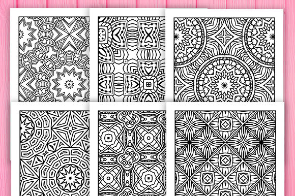 Print on Demand: 30 Wonderful Geometric Coloring Pages Graphic Coloring Pages & Books Adults By JM_Graphics - Image 6