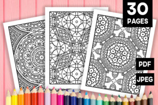 Print on Demand: Abstract Adult Coloring Pages 30 Pack Graphic Coloring Pages & Books Adults By JM_Graphics
