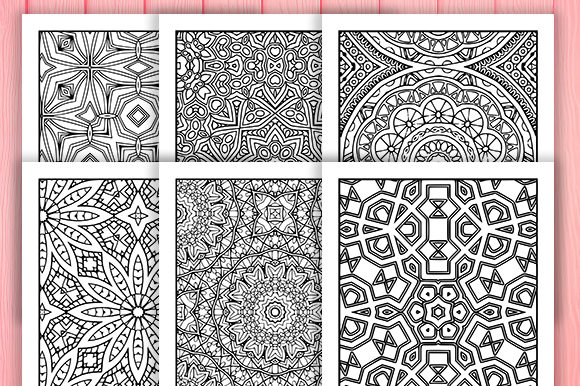 Print on Demand: Abstract Adult Coloring Pages 30 Pack Graphic Coloring Pages & Books Adults By JM_Graphics - Image 2