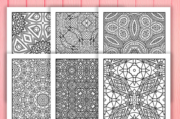 Print on Demand: Abstract Adult Coloring Pages 30 Pack Graphic Coloring Pages & Books Adults By JM_Graphics - Image 3