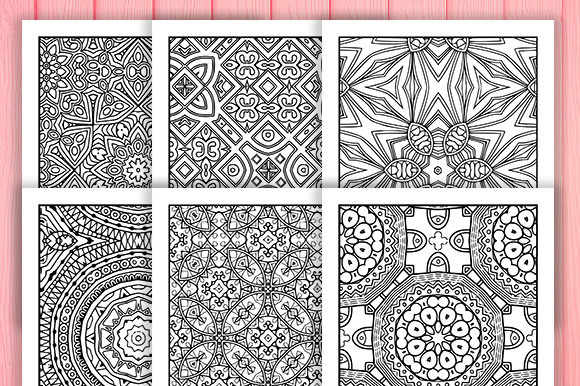 Print on Demand: Abstract Adult Coloring Pages 30 Pack Graphic Coloring Pages & Books Adults By JM_Graphics - Image 4