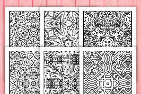 Print on Demand: Abstract Adult Coloring Pages 30 Pack Graphic Coloring Pages & Books Adults By JM_Graphics - Image 5