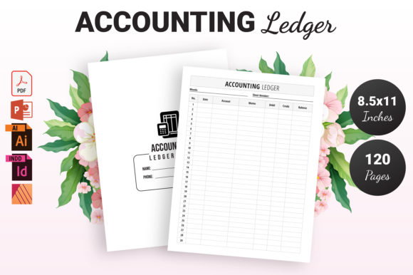 Print on Demand: Accounting Ledger Book - KDP Interior Graphic KDP Interiors By KDP Ninja