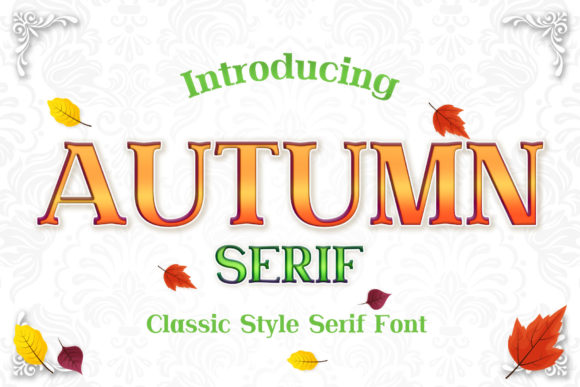 Print on Demand: Autumn Serif Font By numnim