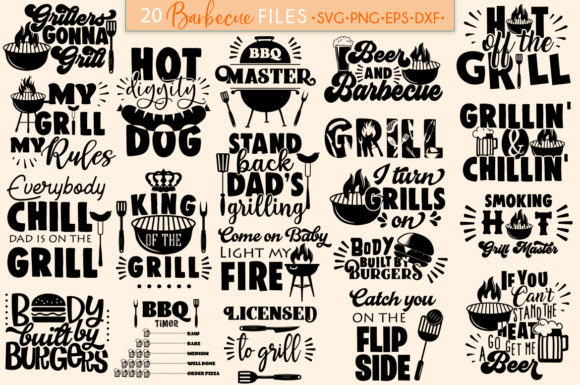 Barbecue print on demand bundle