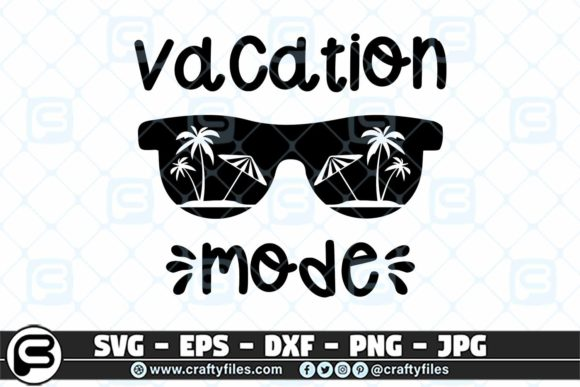 Print on Demand: Beaching Vacation Mode Summer Graphic Crafts By Crafty Files
