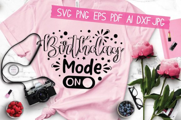Birthday Mode on Graphic Crafts By AraySVG