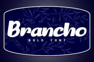 Print on Demand: Brancho Display Font By deedeetype