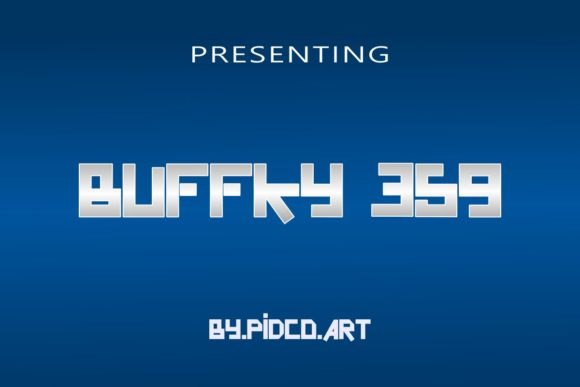 Print on Demand: Buffky 359 Display Font By Pidco.art