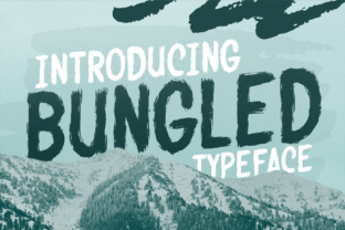 Print on Demand: Bungled Display Font By brithostype